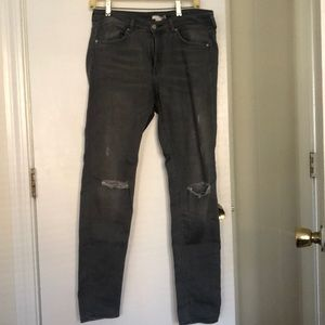 H&M Gray Ripped Jeans Size US 10